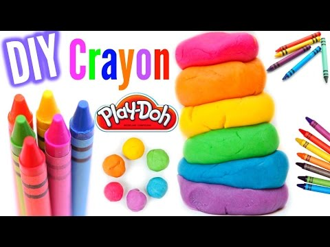 Make Play Dough Out Of Crayons! DIY Crayon Play Dough!
