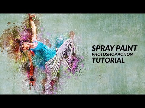 Spray Paint Photoshop Action Tutorial