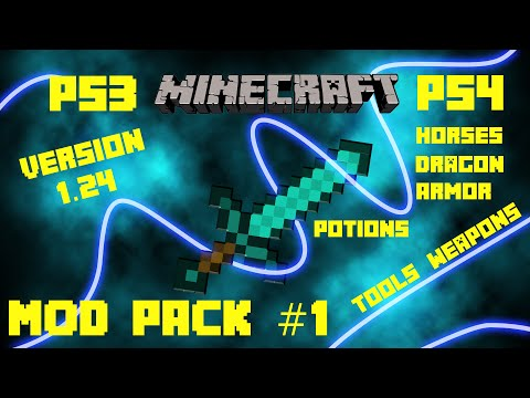 Minecraft - PS3 / PS4 Mod Pack #1 - Download For Version / 1.66 / 1.65 / 1.64 / 1.63