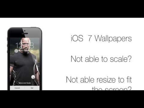 Scale, resize and fix iOS 7, iOS 8  & iOS 8.1 wallpaper with Wallax app