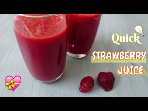 How to make Strawberry Juice | Healthy recipe