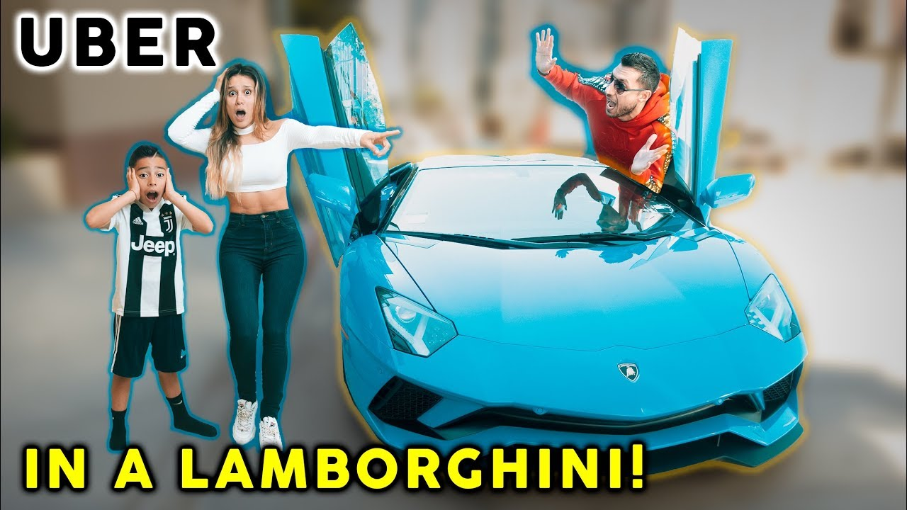 Picking Up Uber Riders In a LAMBORGHINI! **SO FUNNY**   The Royalty Family