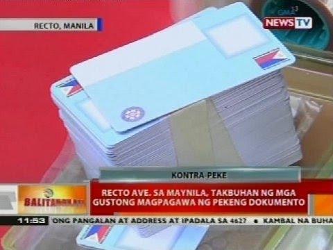 Recto Ave. sa Maynila, takbuhan ng mga gustong magpagawa ng pekeng dokumento