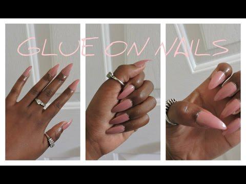 How To: Make FAKE nails look SALON DONE | Stiletto Nails | Svblewan