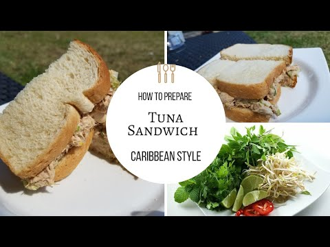 How To:  Prepare an EASY Caribbean Style Tuna Sandwich