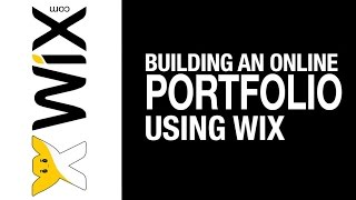 Building an Online Photography Portfolio (WIX)