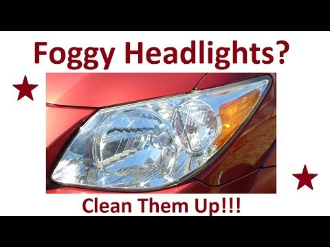 Easy Fix For Hazy or Foggy Headlights Without Power Tools