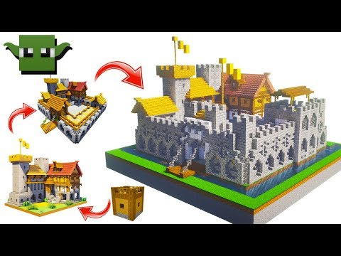 Minecraft Fortified House 2nd Upgrade (EASY 5X5 BUILDING SYSTEM)