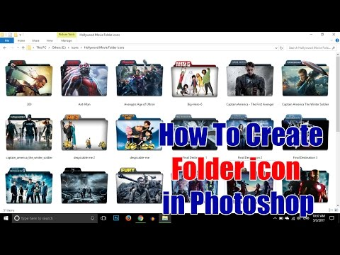 How To Create Custom Folder icon in Photoshop (Updated Video) | TechTutorials