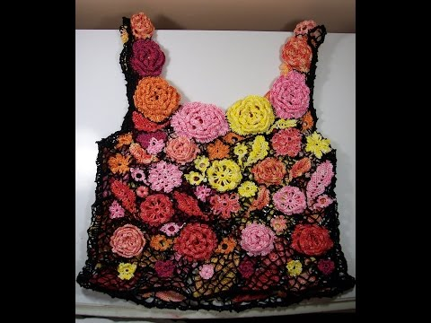 Modern Irish Crochet Camisole - Attaching the Motifs