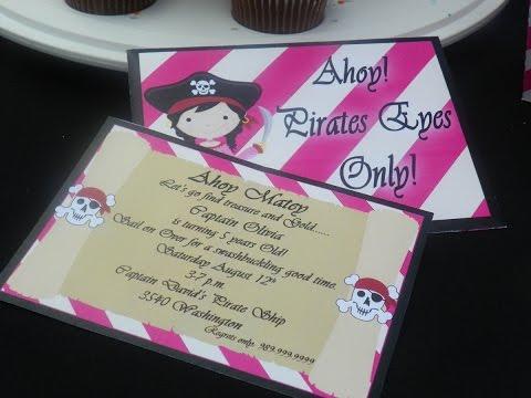 How to Make Birthday Banner, Invitation, Envelope, Envelope Seals