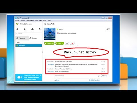 How to Backup Chat History in Skype® for Windows® Desktop