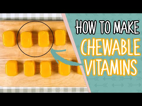 Easy Chewable Vitamin Gummies Recipe - For Kids too!