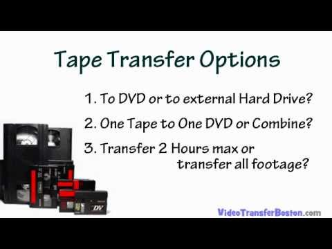 VHS Tape Transfer Options