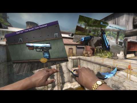 CS:GO - BLUE GEM Five-SeveN Case Hardened Trade Up - Road To