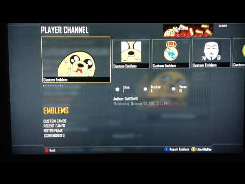 How to copy custom emblems in Call of Duty Black Ops 2