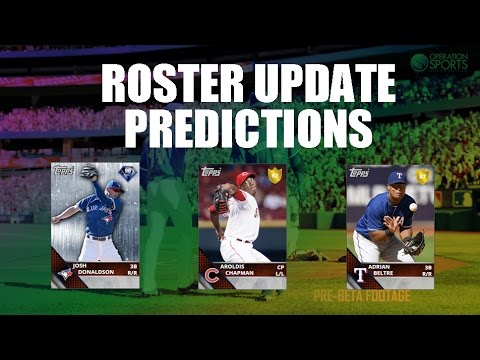 ROSTER UPDATE PREDICTIONS! DIAMONDS! MLB THE SHOW 16 DIAMOND DYNASTY (9.16.16)