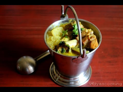 Southindian Style Nokol and Potato Mutton Curry Recipe