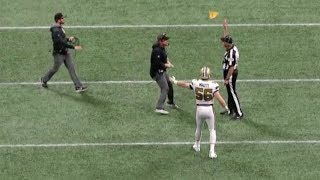 Sean Payton Runs Onto The Field Causing Game-Losing Unsportsmanlike Conduct Penalty | NFL