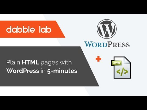 How to use plain html templates in WordPress