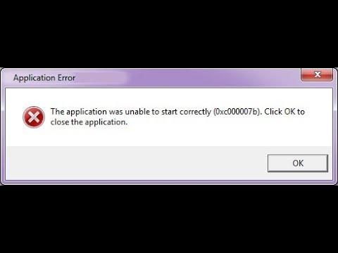 how to fix 0xc00007b error windows 10/8/7