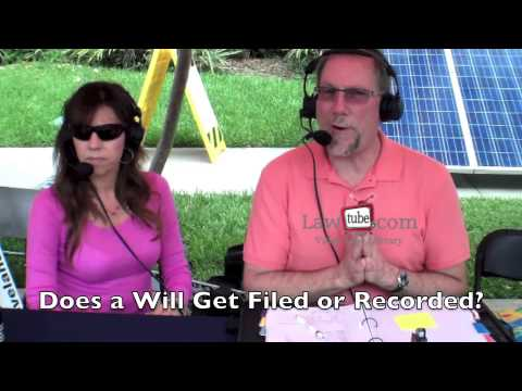 Does a will get filed or recorded?