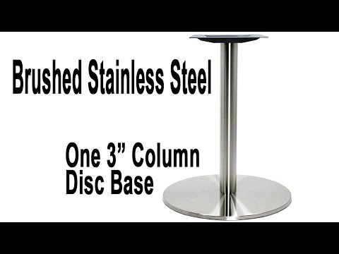 Turin Stainless Steel Disc Table Base | for Round Tops