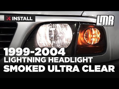 1999-2004 F-150 Lightning Smoked Ultra Clear Headlight Kit - Install & Review