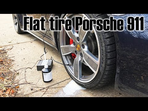 Getting a flat tire in a Porsche 911