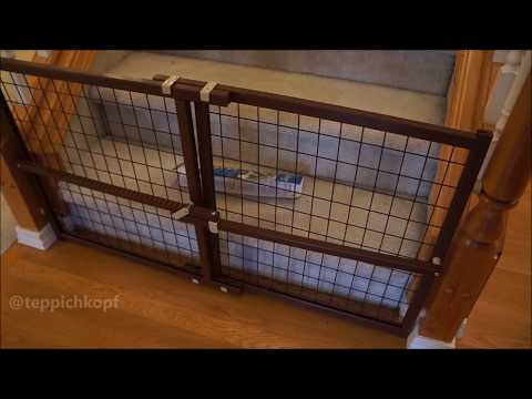 Evenflo Now and Furever Wire Pet Gate - Works well on stair banister