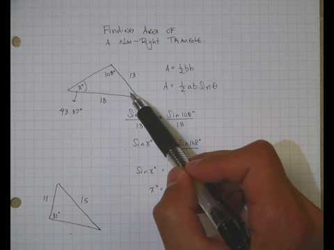 Finding the Area of a Non-Right Triangle
