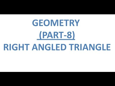 Geometry (PART-8) Right Angled Triangle for SSC(CGL PRE & MAINS,CPO,CHSL),RAILWAY,CAT,FCI,UPSC,GATE