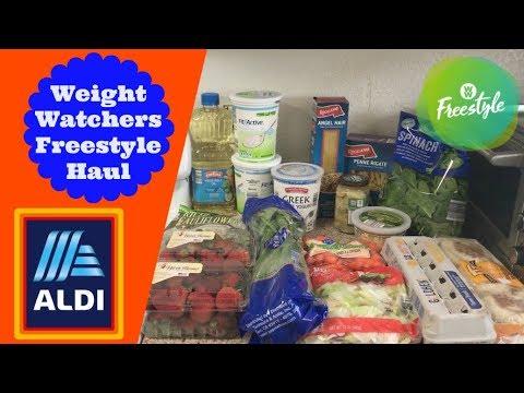 $30.77 ALDI Weekly Grocery Haul | Weight Watchers Freestyle Haul!