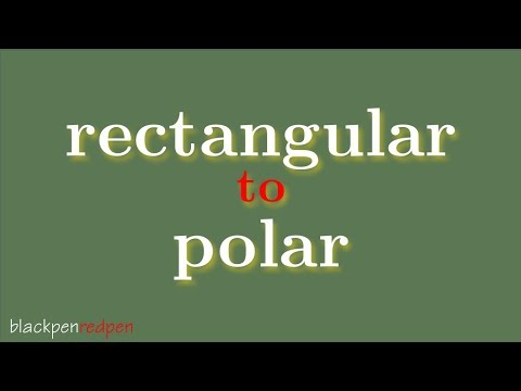 convert rectangular coordinates to polar coordinates