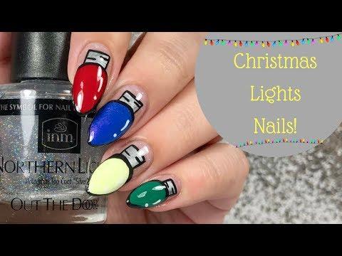 💡 Christmas Light Bulb Nail Tutorial | Day 11 of my 12 days of Christmas! 💡