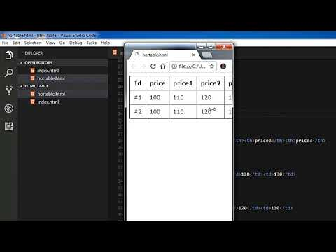Html Table Horizontal Scroll | Html Table Responsive