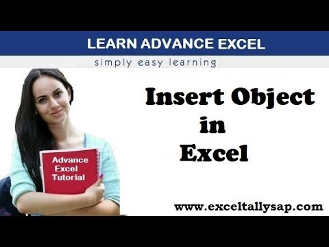 Insert Object in Excel ! Advance Excel
