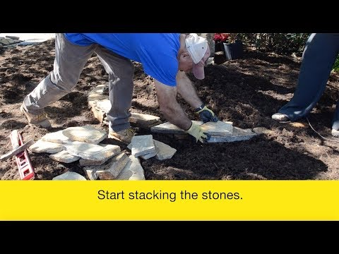 How to Build a Dry Stack Stone Wall with Natural Stone