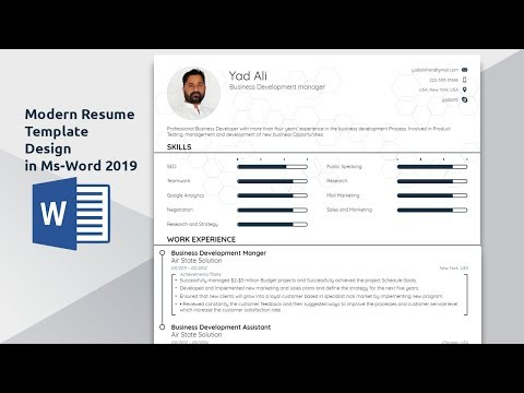 How to create an Awesome modern resume template  in ms word 2016
