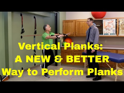 Vertical Planks- A NEW & BETTER Way To Perform Planks, Strengthen Core & Balance