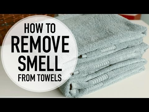 HOW TO REMOVE MILDEW SMELL FROM TOWELS!