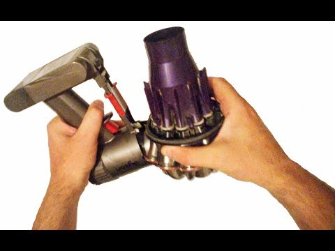 How to clean a Dyson cordless vacuum cleaner by disassembling it