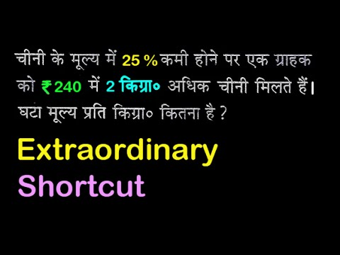 Cost reduced - buying capacity increased | Percentage problem with tricks and shortcuts | in HINDI