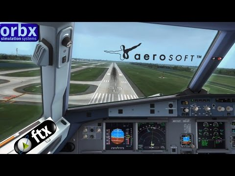 FSX   American A321 long landing at Orlando Airport #VATSIM
