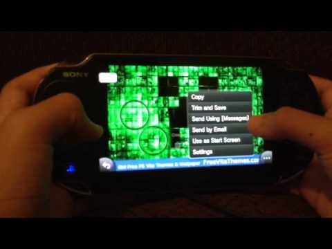 How to put a wallpaper on your ps vita