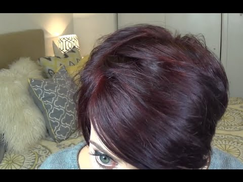 How I Get my Burgundy Plum Hair Color at Home