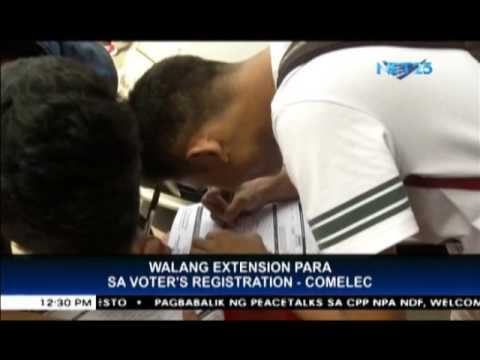 COMELEC to public No more extension for barangay, SK voter's registration
