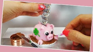 Download REAL but mini money - PIGGY bank surprise cake/chocolate cake/How to make a cake Video
