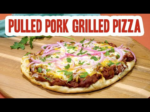 Easy Pulled Pork Grilled Pizza
