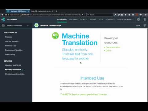 Build A Translation REST API With Watson, Node-RED, and Bluemix